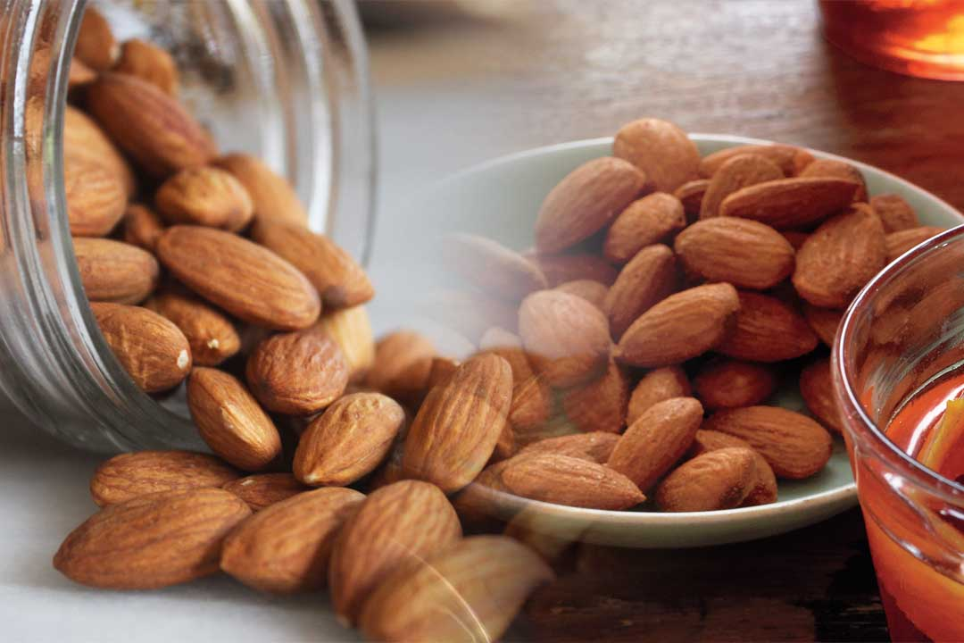 top countries with most almond production