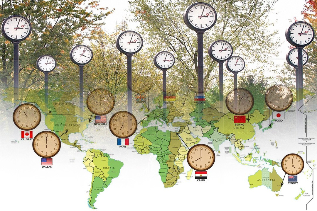countries with most time zone