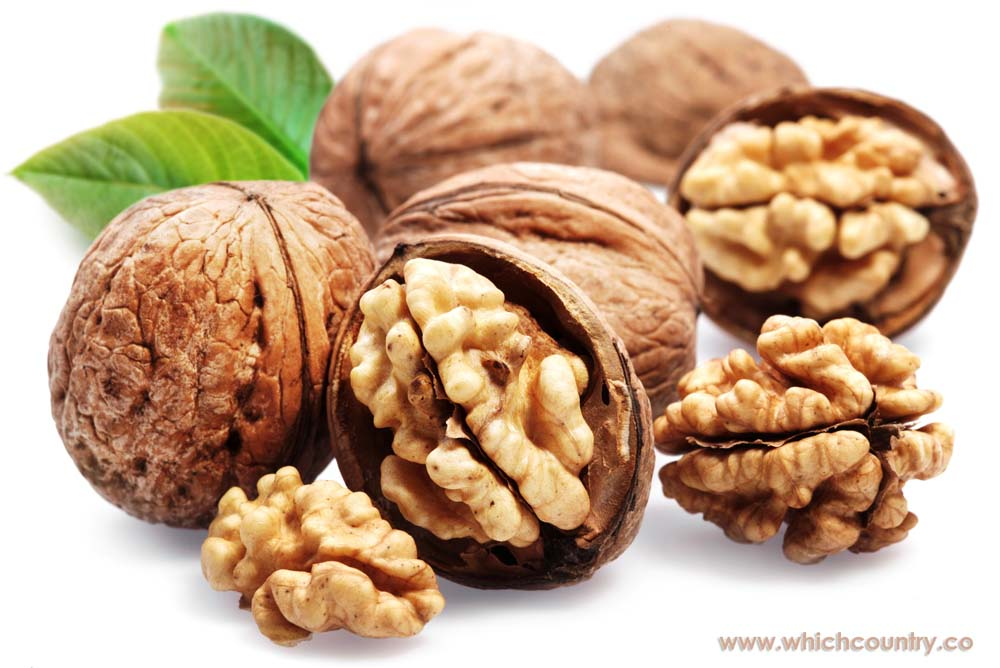 walnut production by country