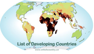 list of developing countries in the world 2014