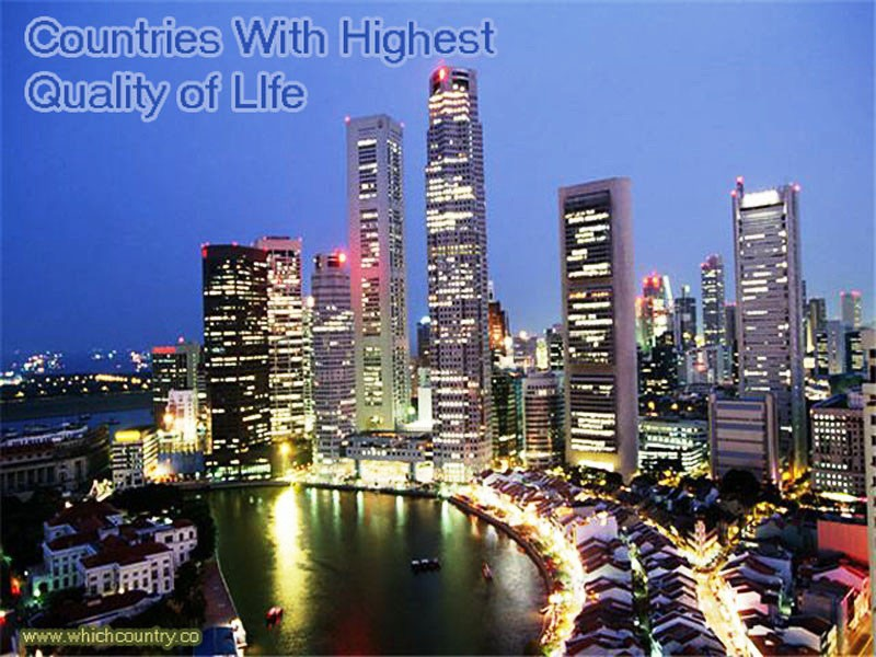 top ten Countries with highest quality of life in the world