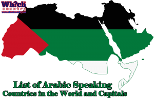 list of arabic speaking countries in the world