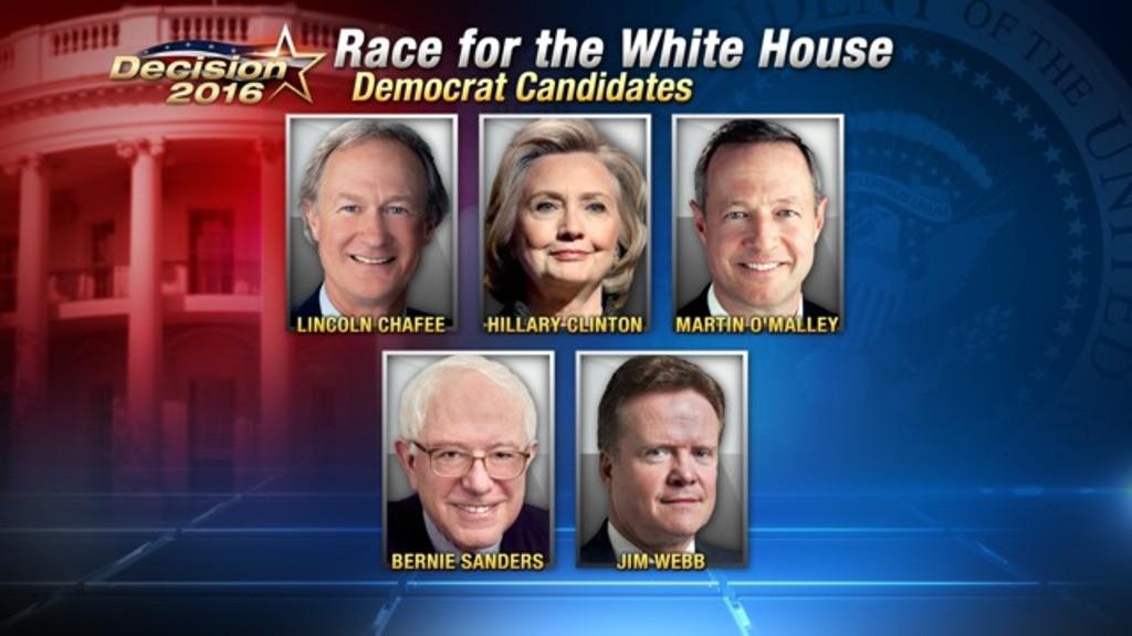 List of Declared Democratic U.S Presidents in 2016