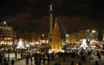 London's Christmas tree in Trafalgar Square
