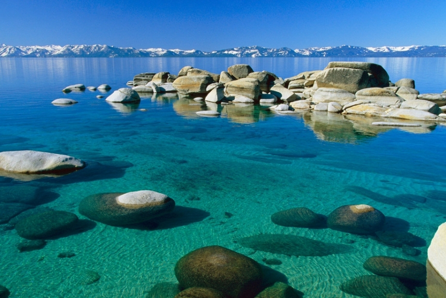 Tahoe lake in USA