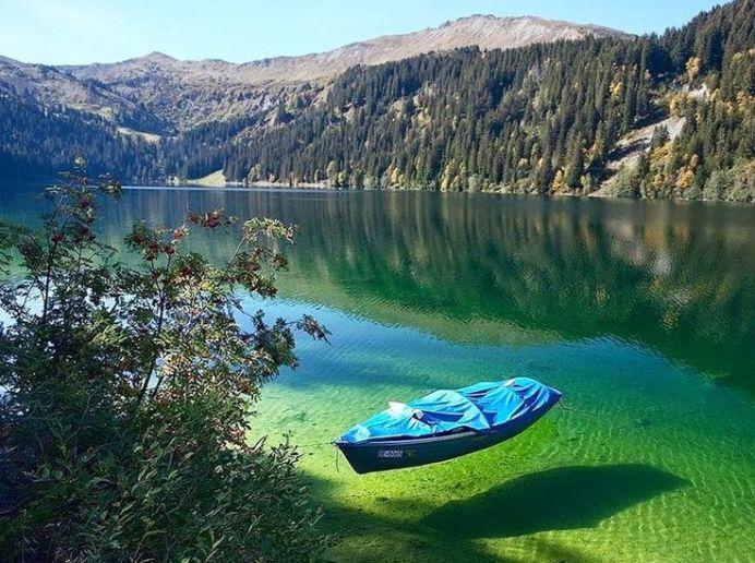 Beautiful lake in russia