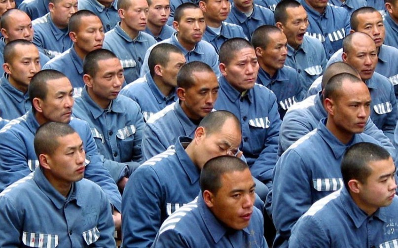 Number of prisoners in China